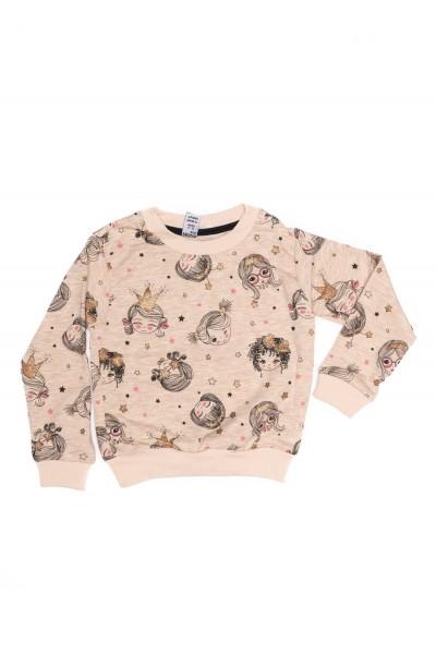 bluza fete dasilva crem imprimeu fetite