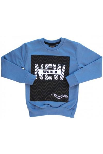 Bluza bumbac copii albastra New World