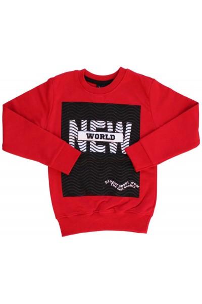 Bluza bumbac copii rosie New World