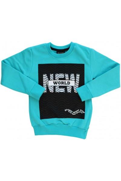 Bluza bumbac copii vernil New World