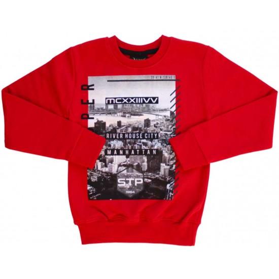 Bluza copii rosie Manhattan