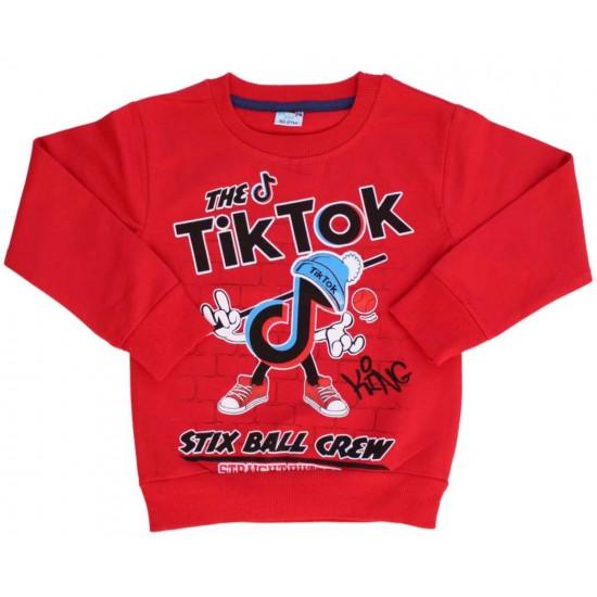 Bluza copii rosie Tik-Tok