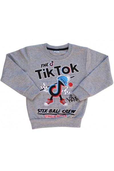 Bluza copii gri Tik-Tok