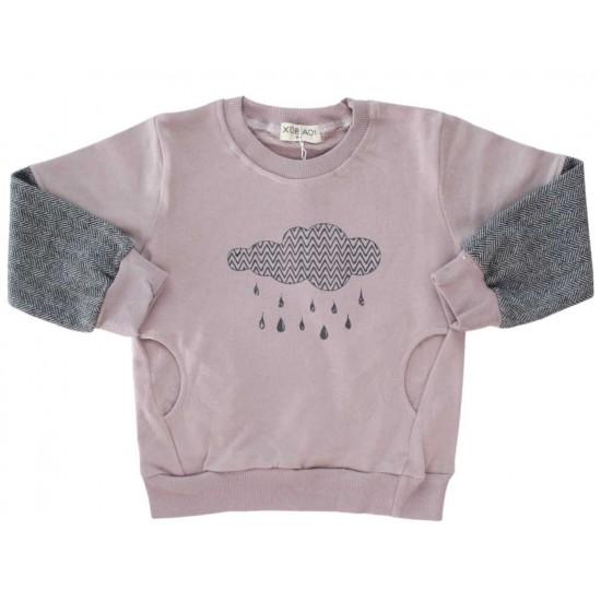 bluza copii bumbac roz prafuit norisor