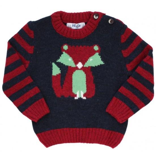 pulover copii rosu bleumarin