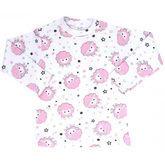 bluza bebe bumbac oita roz