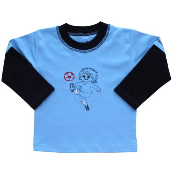 bluza bumbac copii bleu fotbalist