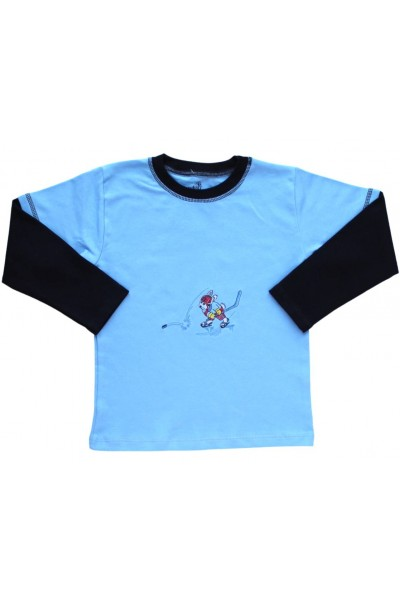 bluza bumbac copii bleu hockey