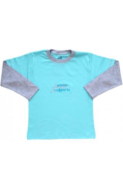 bluza bumbac copii azur american sport