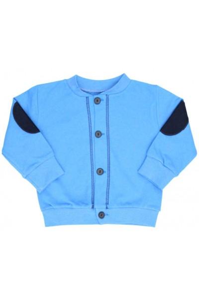 jacheta bumbac copii albastra