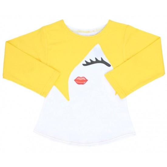 bluza fetite fata galbena