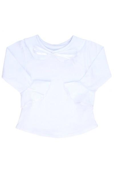 Bluza fete alba volanas