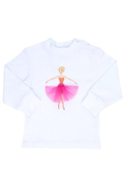 bluza bebe bumbac alba balerina