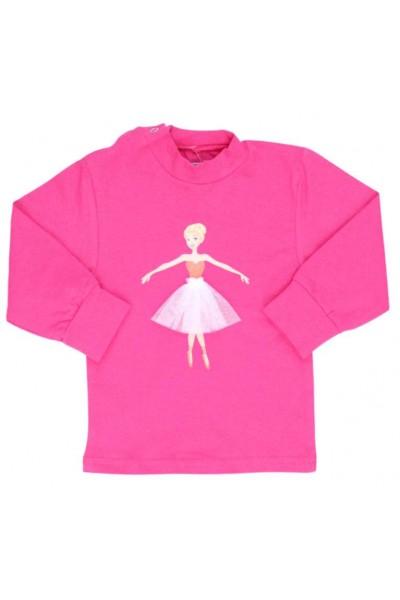 bluza bebe bumbac cyclame balerina