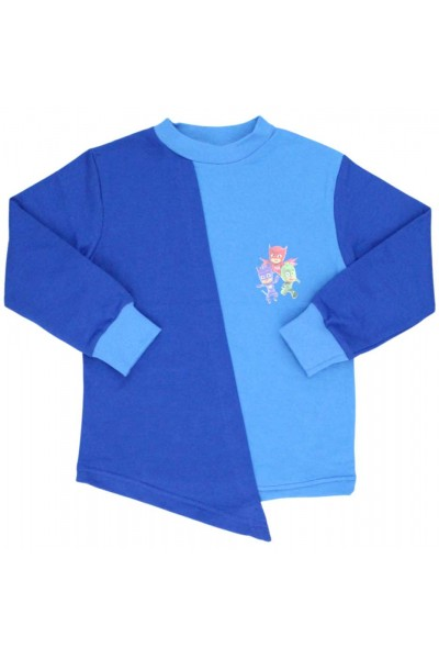 bluza baieti asimetrica albastru- albastru electric