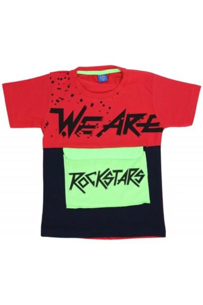 tricou copii rockstars rosu