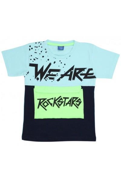 tricou copii rockstars azur