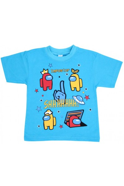 tricou copii among us turqoise