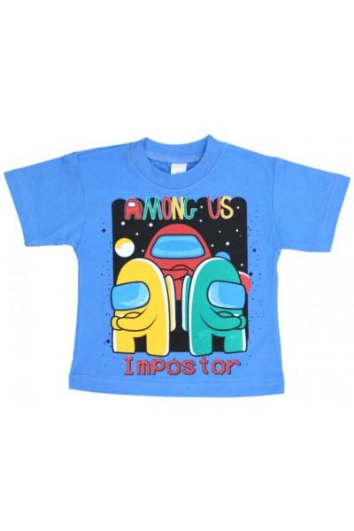 tricou copii among us albastru