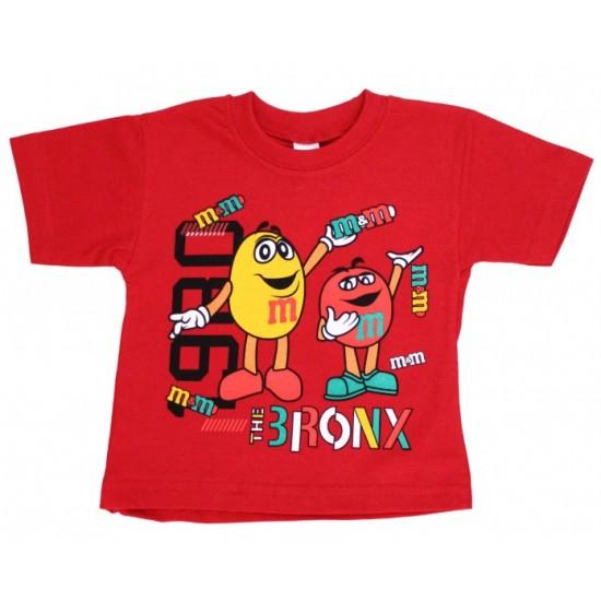 tricou copii m&m rosu