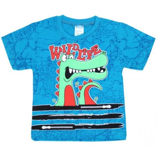 tricou turcoaz aligator