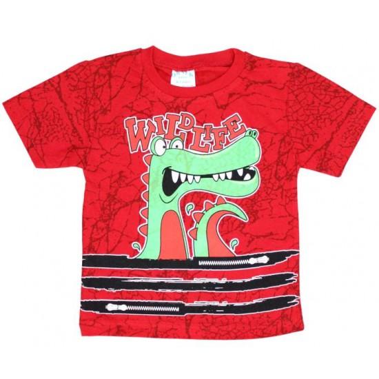 tricou rosu aligator