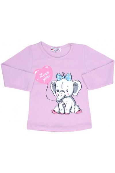bluza bumbac mov elefant