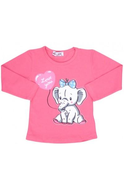 bluza bumbac cyclame elefant