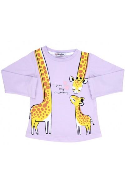 bluza bumbac mov girafa