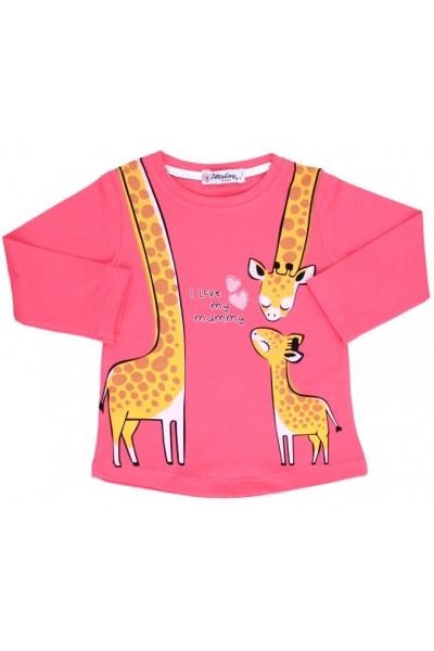 bluza bumbac cyclame girafa