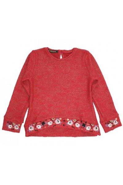 bluza fete rosie flori