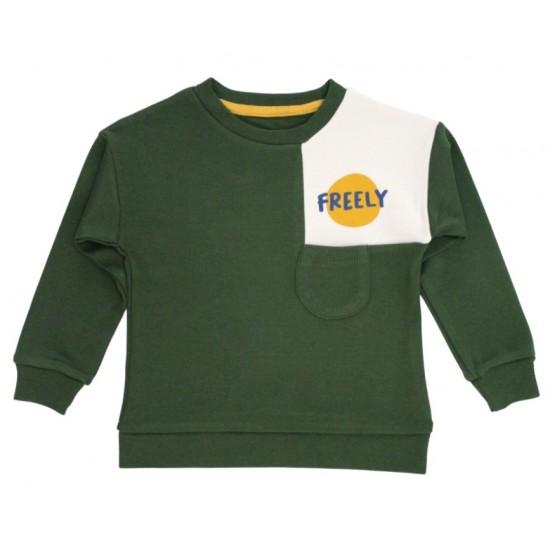 bluza baieti verde freely
