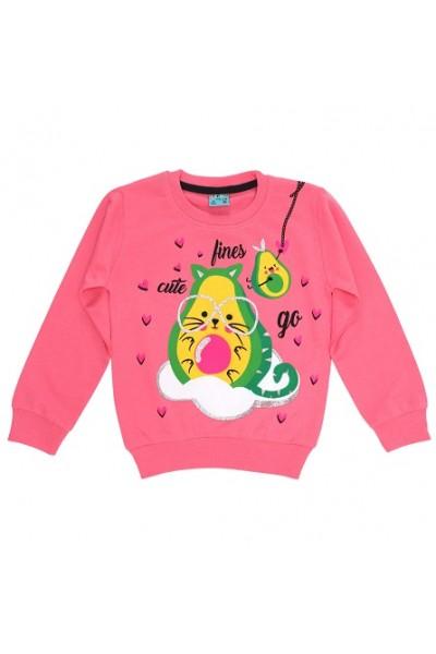 Bluza fete bumbac avocado roz