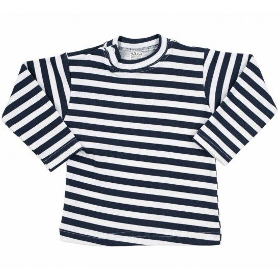 bluza bebe bumbac azuga dungi bleumarin