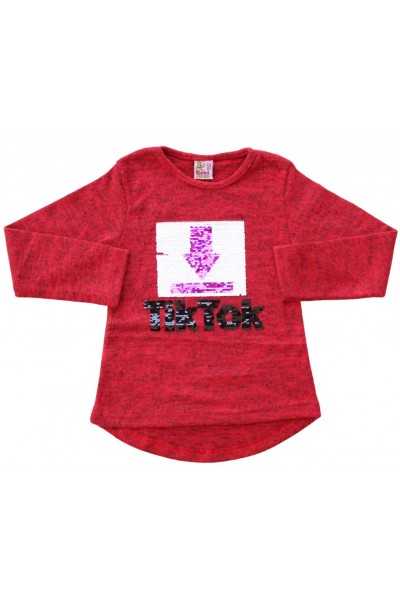 bluza fete rosie paiete TikTok