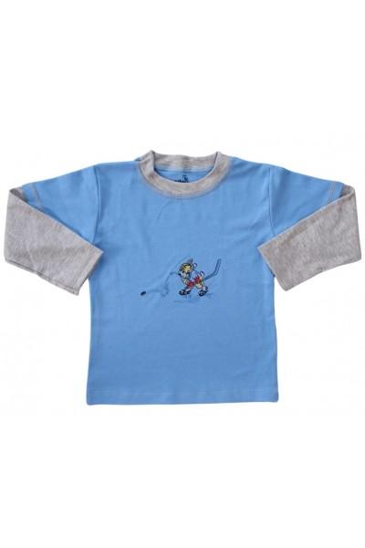 bluza bumbac copii bleu sportiv