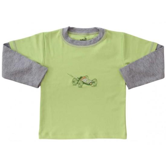bluza bumbac copii vernil masinuta