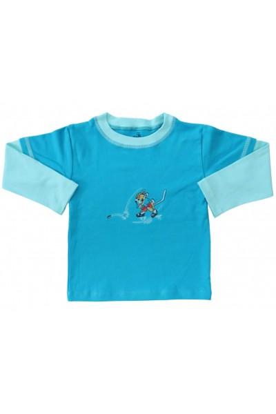 bluza bumbac copii turcoaz sportiv