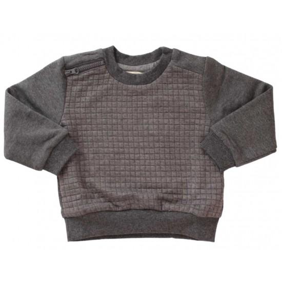 bluza bumbac copii gri