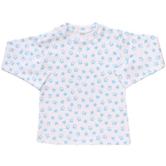 bluza bebe bumbac stelute bleu