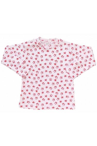 bluza bebe bumbac stelute rosii