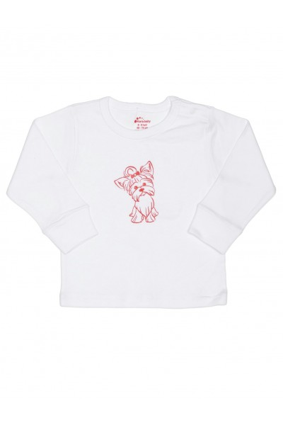 bluza bumbac bebe kara alba