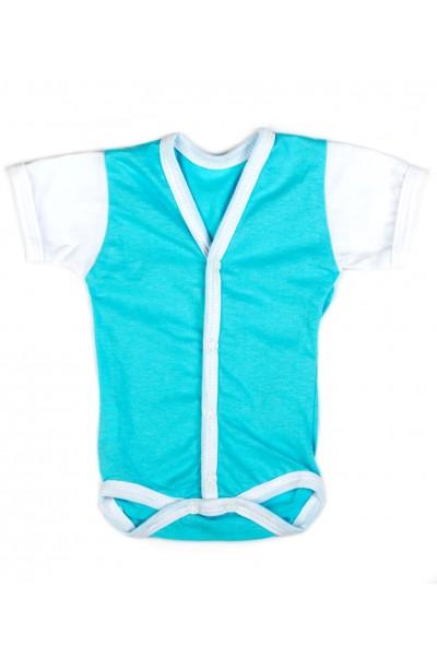 Body maneca scurta Adonis Kids albastru turcoaz