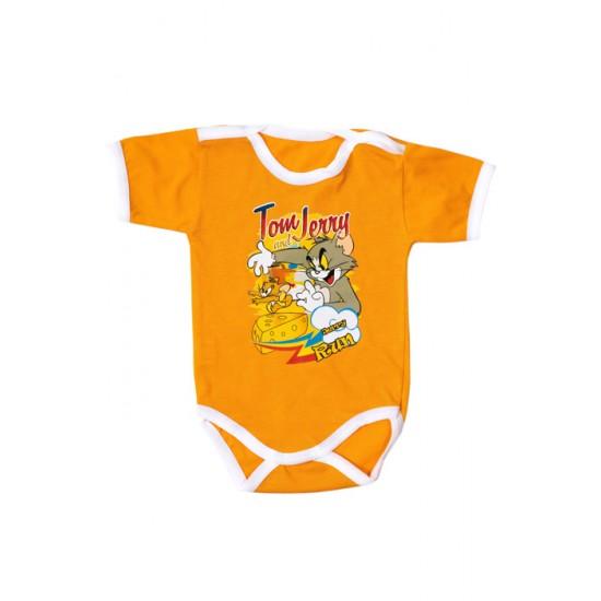Body maneca scurta Adonis orange Tom&Jerry