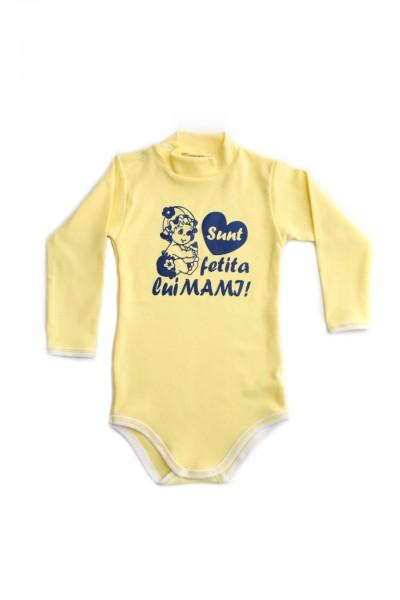 body maneca lunga azuga galben mesaj sunt fetita lui mami
