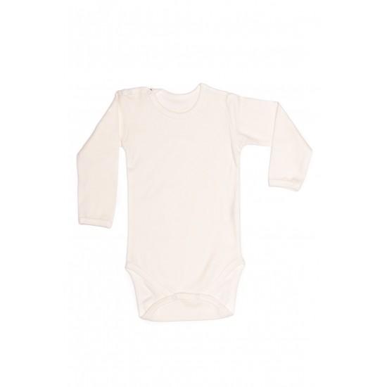 body maneca lunga rom baby alb