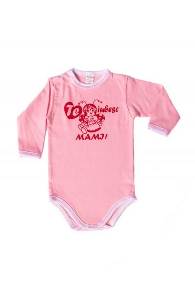 body maneca lunga azuga roz te iubesc mami