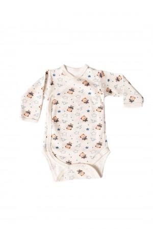 body maneca lunga rom baby imprimeu ursuleti