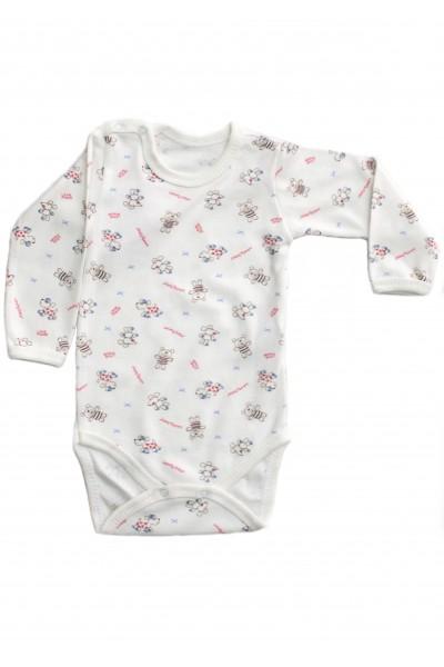body maneca lunga  rom baby imprimeu ursuleti+caluti
