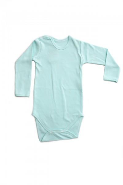 body maneca lunga rom baby bleu-azur
